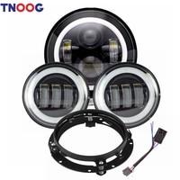 7 LED Headlight Bracket Mounting Ring 4 1/2 LED Fog Lights for Road Glide Street Glide Electra Glide Ultra
