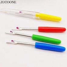 ZOTONE-cortador de hilo de 10 unids/lote, Destripador de costuras, despuntado, herramienta de costura, mango de plástico, herramientas y accesorios de costura artesanal de Color aleatorio