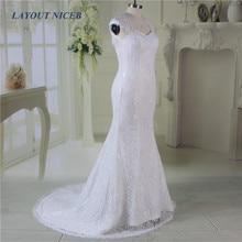 Lace Beach Mermaid Wedding Dress Open Back vestido de festa longo Cap Sleeves Formal Bride Gown noiva trouwjurk