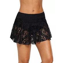 e249bc7a8e3088 2019 lato kobiet wysokiej talii spódnice kobiet koronki Crochet omijała dół  od bikini strój kąpielowy krótki