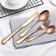 4PCS/Set Stainless Steel Rainbow Cutlery Dinnerware Set Western Food Cutlery Tableware Set Flatware for Dropshipper Accessories