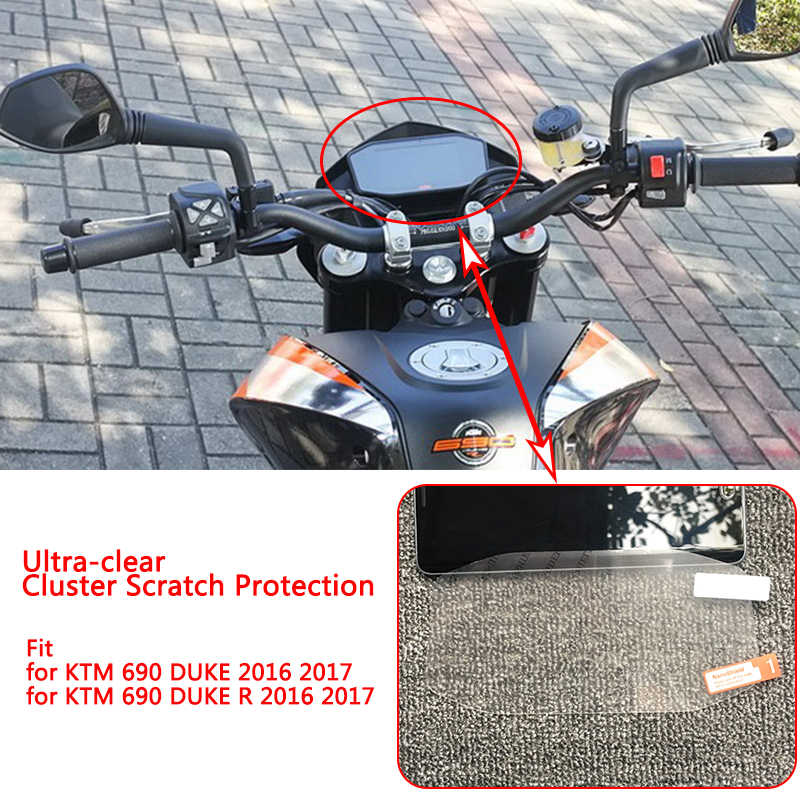 For KTM 2017 2018 Duke 690 790 1290 DUKE Clear Cluster Scratch Protection TPU Film Screen Protector 2018 100% Brand New