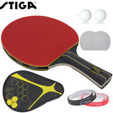 Brand Quality Table tennis racket Double pimples-in rubber Ping Pong Racket fast attack and loops or chop type player