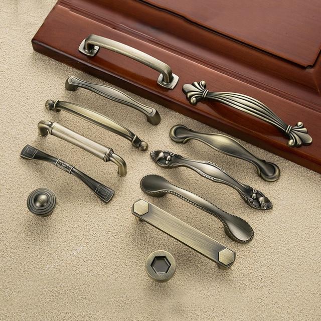 5pcs Vintage Door Handles Metal Drawer Pulls Antique Kitchen Cabinet