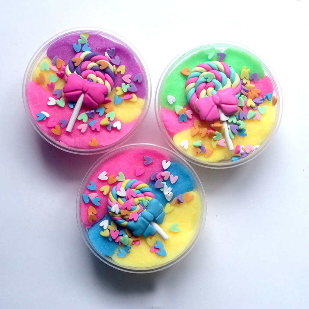 Mud Fluffy Lollipop Slime Diy Stress Relief Children Kid Funny Toy Gift Hot New Arrival Dropshipping Toys & Hobbies Learning & Education
