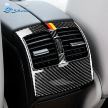 Airspeed Carbon Fiber for Mercedes Benz C Class W204 Accessories Car Rear Air Outlet Vent Cover Sticker Auto Interior Trim Decal