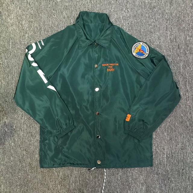 Heron Preston Jackets Sportswear Windproof DSNY Heron Preston Buttons Jacket  18 Orange Blue Black Heron Preston
