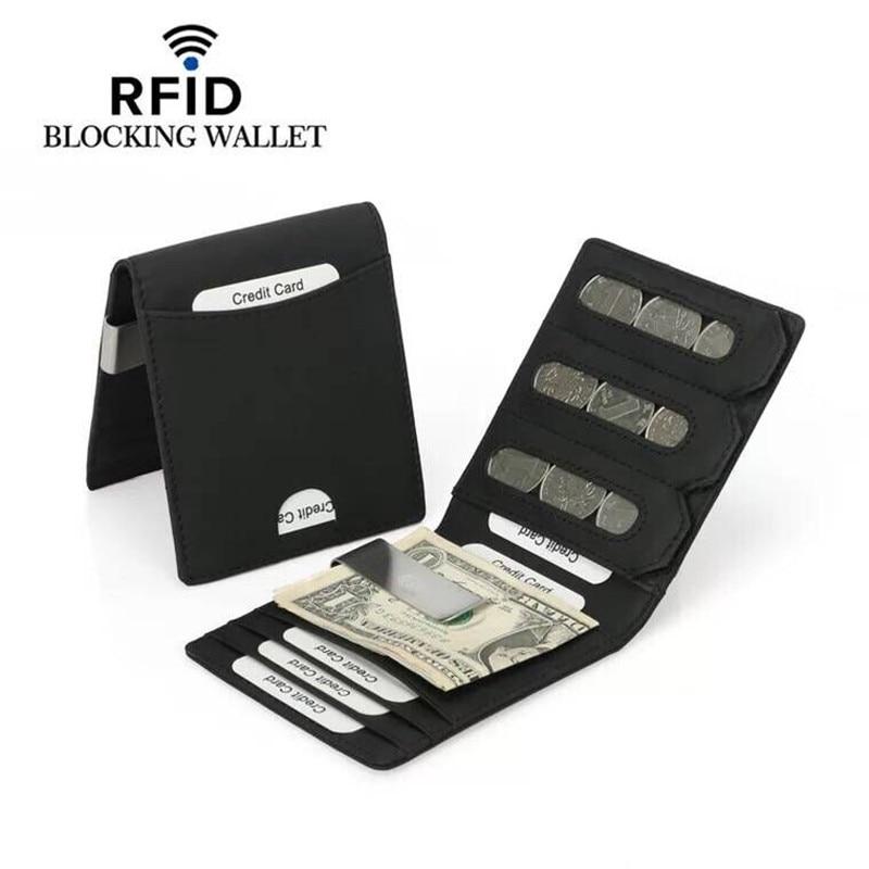 4aa7edcc3d Rfid μπλοκ χαρτοφυλακίου κατόχου πιστωτικής κάρτας πορτοφολιών ...