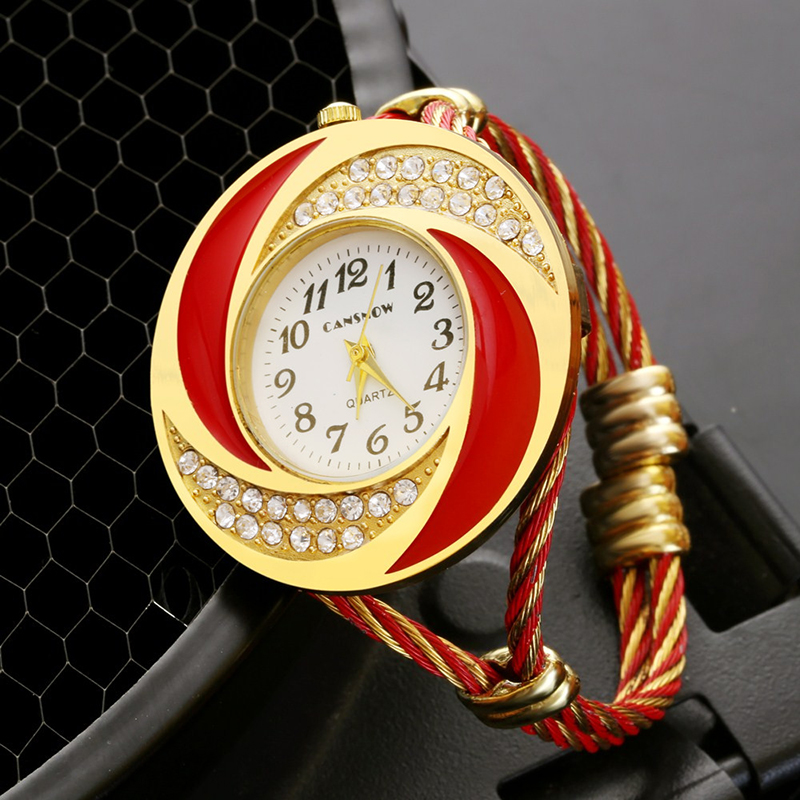 2018 New Luxury Gold Stainless Steel Bracelet Watches Women Fashion Crystal Watch Ladies Casual Wristwatch Female Clock Hot Sale