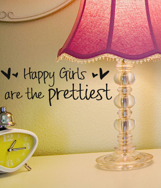 Audrey Hepburn Words Wall Decal Quotes Happy Girls are the Prettiest ...