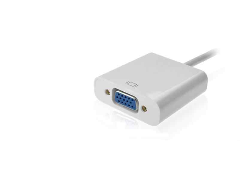 أفضل سعر الأبيض 1080P HDMI الذكور إلى VGA أنثى محول الفيديو كابل محول ل PC DVD PS3