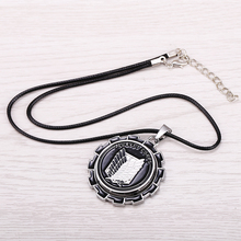 Attack on Titan Necklace Rotatable Scout Regiment Logo pendant