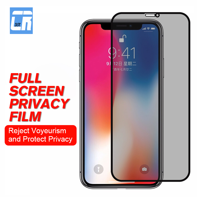 Saving Personal Information Tempered Glass for iPhone 11 Pro X XR XS MAX Anti-spy Screen Protector Film 8 7 6 6S Plus