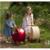 Moover Muñecas Cochecito de bebé, andador De Madera Más Seguro, Natural y Rojo color disponible