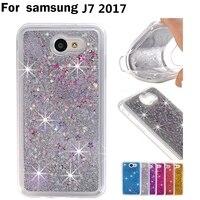 Bling Diamond Quicksand Glitter Star Liquid Case For Samsung Galaxy J7 2017 Luxury TPU Cover Phone