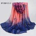5 unids / lotwomen ' s gran larga del algodón bufanda viscosa extra lage bufanda del mantón de pashmina señora summer floral desigual moda scarf180 * 95 cm