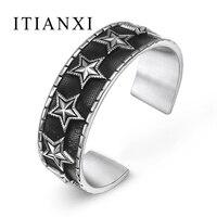 ITIANXI шармы манжета просто несколько подключен Star Для мужчин серии Silver Цвет браслет ювелирных изделий