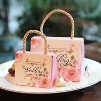 50 Stks/set Creative Koffer Snoep Doos Snoep Verpakking Carton Bruiloft Geschenkdoos Event & Feestartikelen trouwbedankjes met Kaart