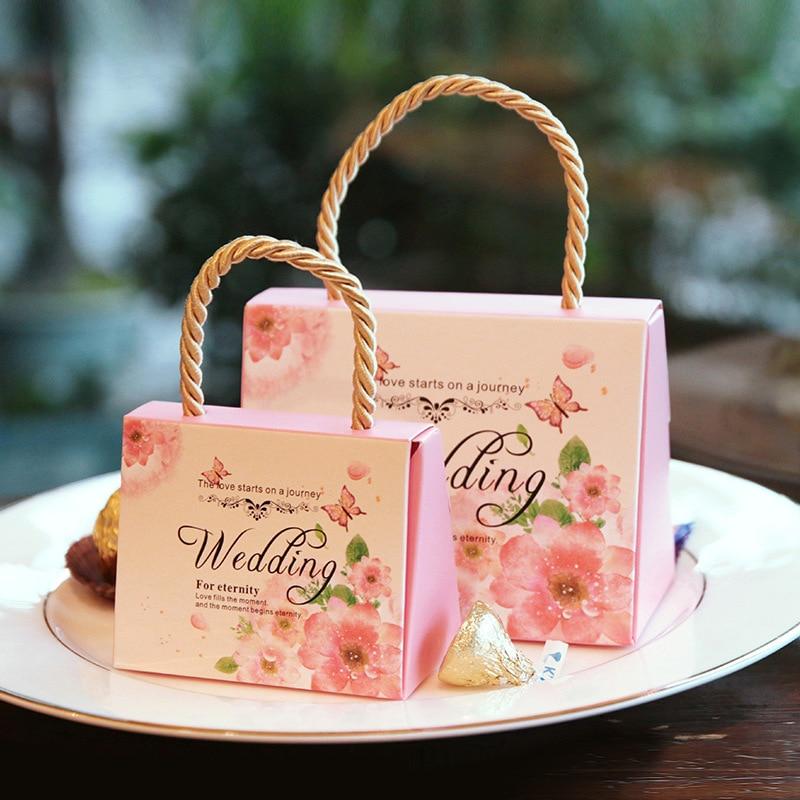 50 шт./компл. креативный чемодан коробка для конфет картонная упаковка коробка для свадебного подарка праздника и Вечерние Декорации Свадебные сувениры с отделением для карт