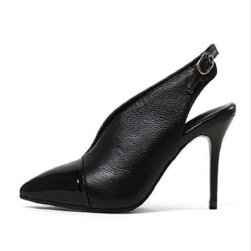 cow leather patchwork women shoes slip on slingback pointed toe fashion office lady high heels streetwear pumps L67 2017 fashion brand shoes strange high heels stiletto pointed toe women pumps slip on cow leather design hollow wedding shoes l01