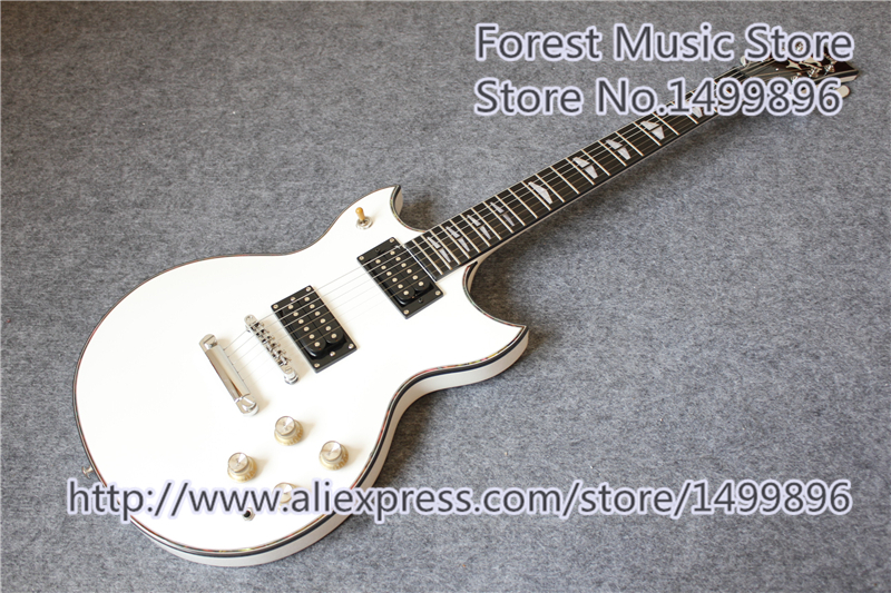 цена на New Arrival White Glossy Finish SG Electric Guitars With Ebony Fretboard In Stock