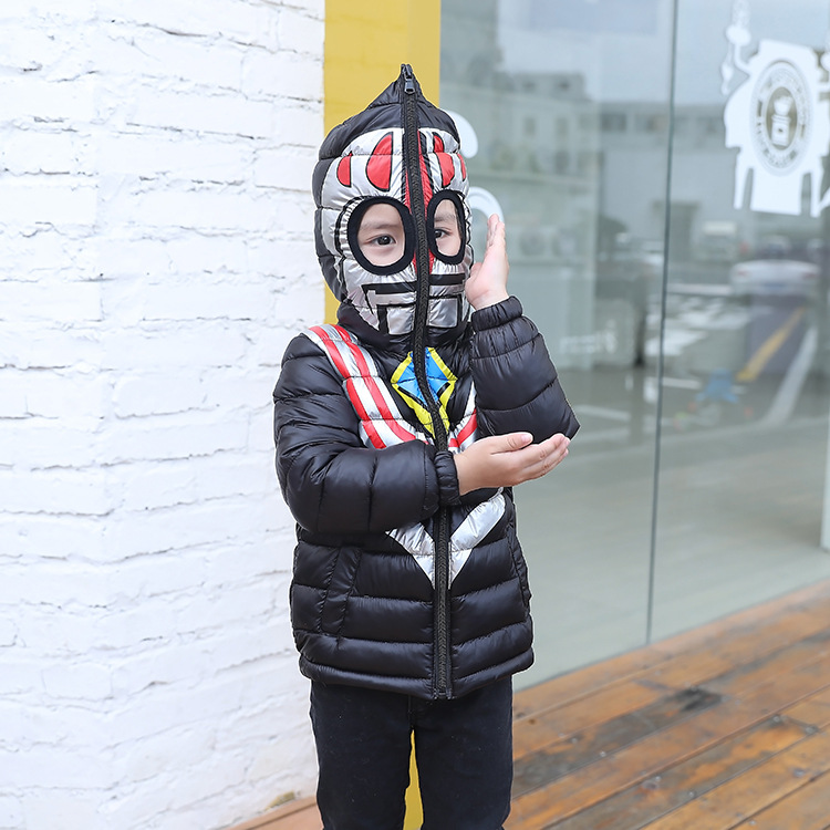 Boys Girls Winter down coat 2017 Baby Winter Coat Kids warm outerwear Hooded Coat Creative animation Baby winter jacket children winter warm jacket baby down coat outerwear boys girls 90