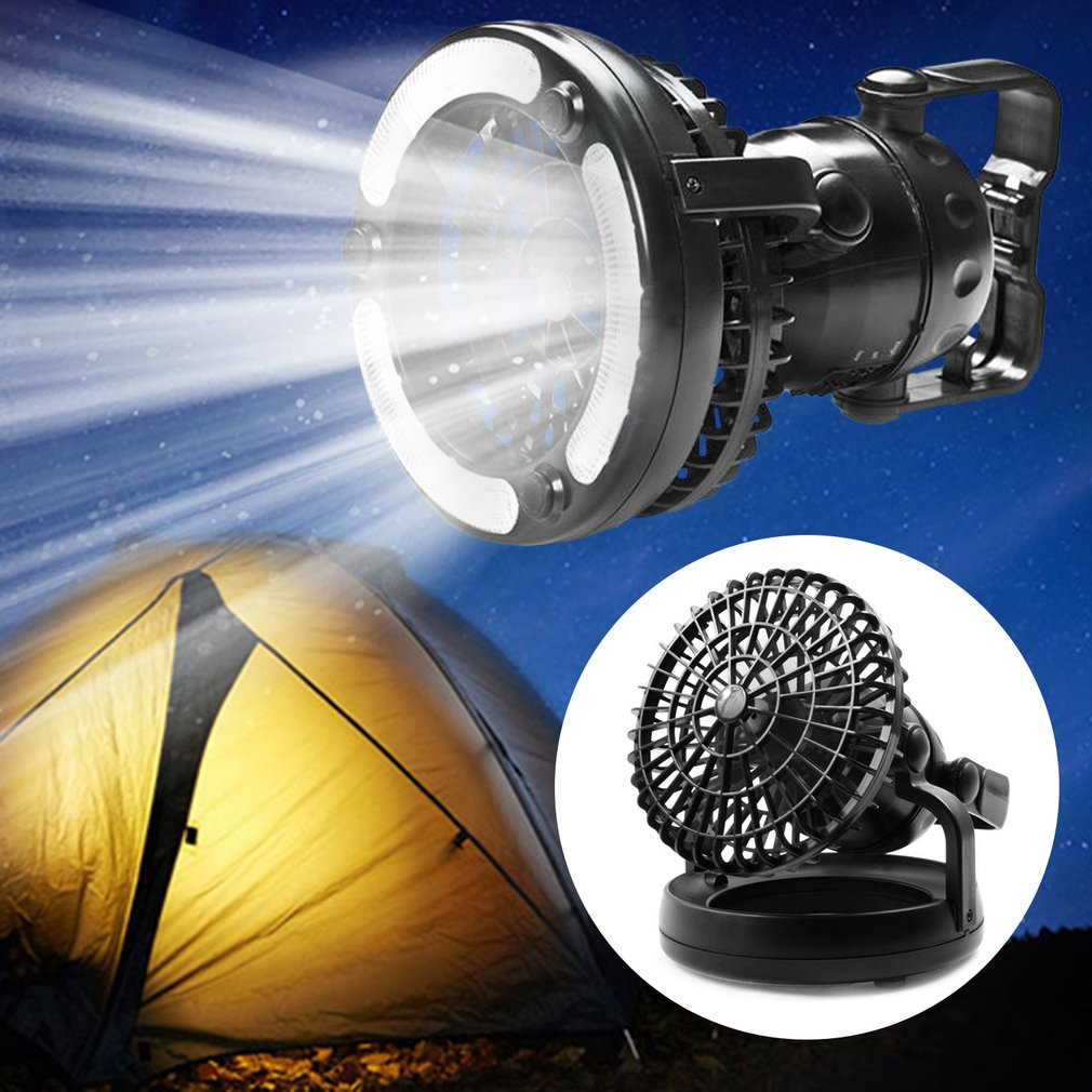 OUTAD 2-in-1 18 LED Camping Light Teet Lantern with Fan Lamp Hanging Hook Outdoor Hiking Fishing Camping <font><b>Ceiling</b></font> Lamp