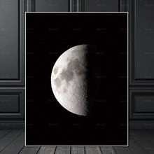 Frameless Printing Wall art Picture posters and prints moon landscape Canvas Painting artwork for Living room