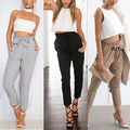 New Sexy Women basic Skinny Ankle length Pants High Waist Stretch Pant Slim Pencil Trousers