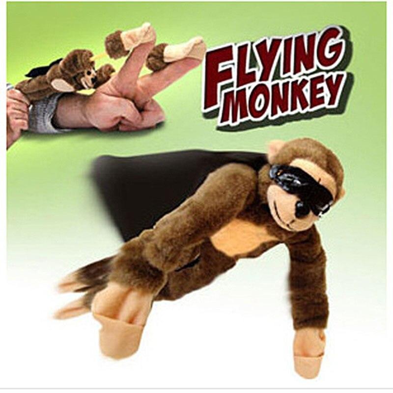 Plush Flying Toy Finger Monkey Toys Soft Cute Children Boy Girl Child Kids Plush Slingshot Screaming Sound Funny