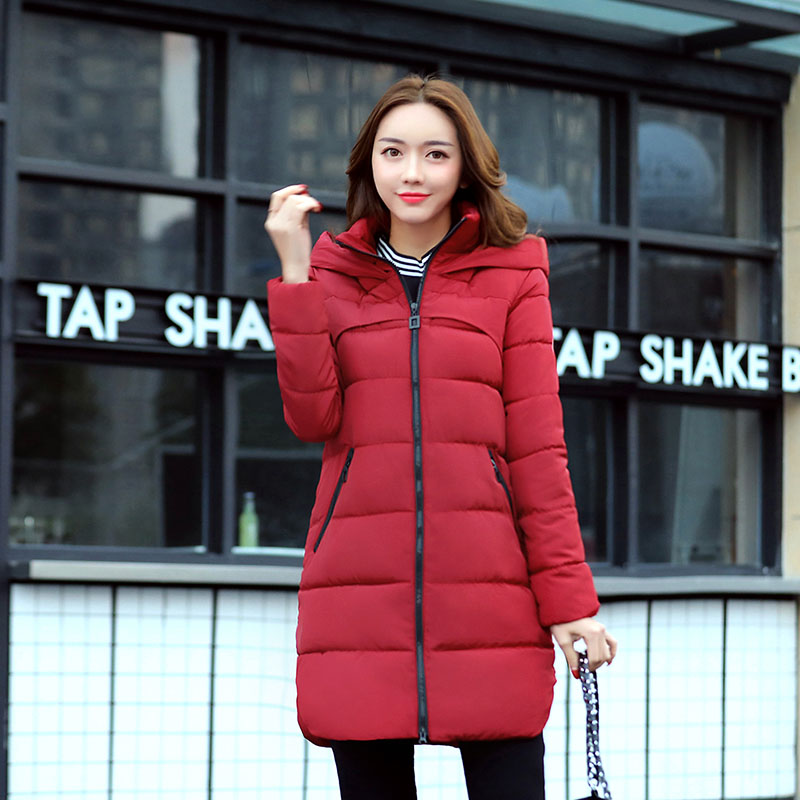 Winter Warm Coat Hooded Long Parkas Casual Wadded Outwear Plus Size Female Fashion Style Jacket Cotton Thick Coat Hot Sale geckoistail 2017 new fashional women jacket thick hooded outwear medium long style warm winter coat women plus size parkas