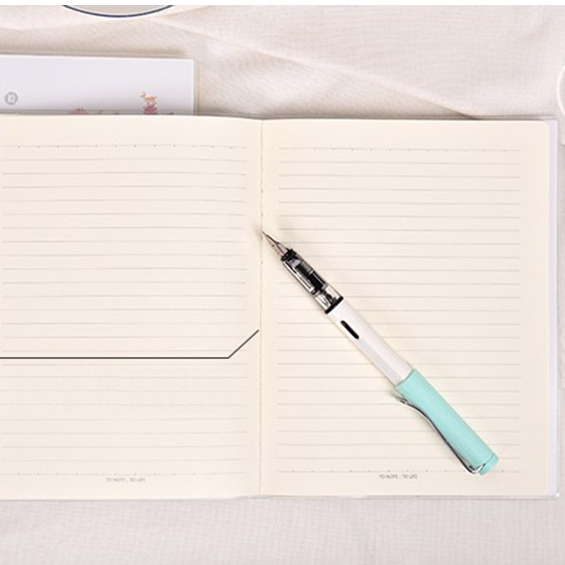 New Cute notebook school Diary 96 sheets paper Horizontal plastic - horizontal writing paper