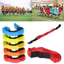 3 ноги гоночная лента эластичный галстук веревка ремень сотрудничество обучение на открытом воздухе Семейная Игра