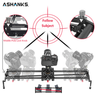ASHANKS S2 Track Camera Slider Koolstofvezel Verstelbare Hoek Buis Follow Focus Pan voor Stabilizer DV DSLR Camera Video Schieten