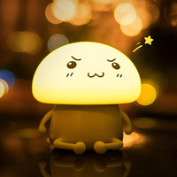 Children S Night Light USB Charging 1200mAh Cute Touch Switch Silicone Luminaria Bedroom LED Stress Reliever