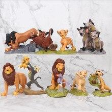 9pcs Cartoon The Lion Guard King Kion Simba PVC Action Figures Bunga Beshte Fuli Ono Figurines Doll Kids Toys for Children Boys