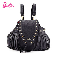 2017 Барби женщины backbag новое летнее платье для девочек черные рюкзаки маленькая сумка тенденции моды краткое сумка для дам