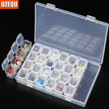 Compartment Storage Box Practical Adjustable Plastic Case for Bead Rings Jewelry Display OrganizerDiamond Painting Accessory