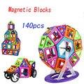 140 pcs luta inserido blocos magnéticos educacionais crianças desenhador magnético diy modelo buidling bloco set