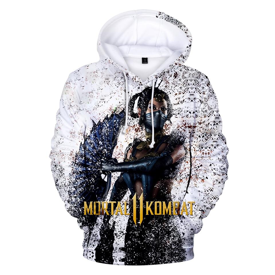 Dropshipping Streetwear Hoodies Men Mortal Kombat 11 Style 3D Print 2019 Harajuku Sweatshirts Fashion Hoodies Pullover Hip Hop