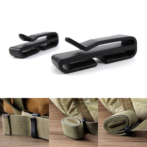 2PCS Portable Ribbon Belt Storage Rear Clip Buckle  Backpack Accessories EDC Multifunction Tool