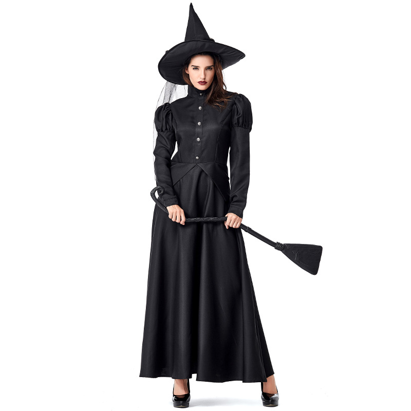 Black Wizard of Oz Witches Mother and Child Dress Costumes Cosplay For Girls and Woman Halloween Party Dress Costume