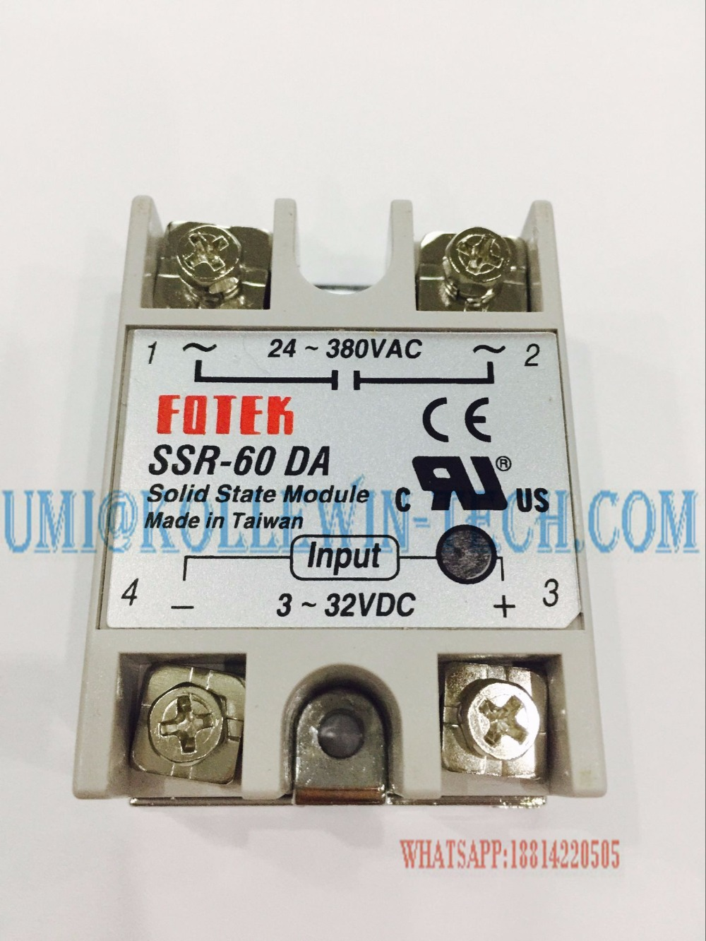 SSR-60 DA, Solid State Relay SSR 60DA 60A 3-32VDC/24-380VAC SSR-60DA 1pc ssr 50 da ssr 50da manufacturer 50a ssr relay input 3 32vdc output 24 380vac good quality with plastic cover wholesale hot