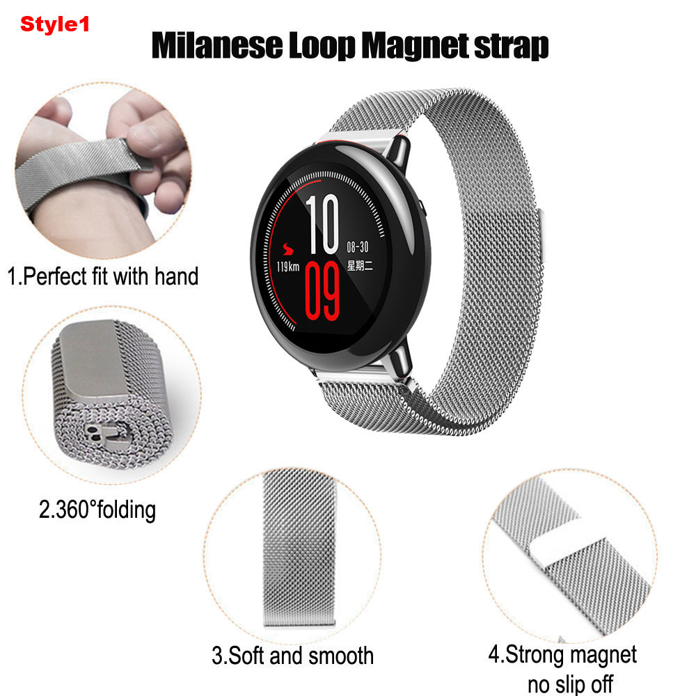 Image 4 - 22mm Bracelet Band For Huawei GT Honor Magic Dream Watch Strap For Xiaomi Amazfit GTR 47mm Pace Stratos WristBand For Samsung S3-in Smart Accessories from Consumer Electronics