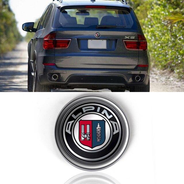 Mm ALPINA Emblem Caps For BMW X Rear Trunk Logo Cover Chrome ABS - X5 alpina