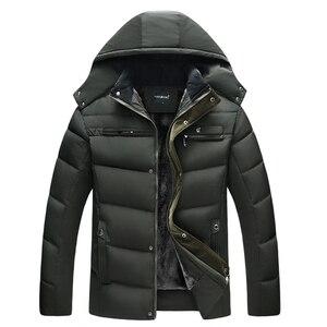Image 4 - קריא חדש 2020 גברים Jacket מעילים לעבות חם חורף מעילי גברים דובון סלעית להאריך ימים יותר כותנה מרופדת מזדמן מעיל