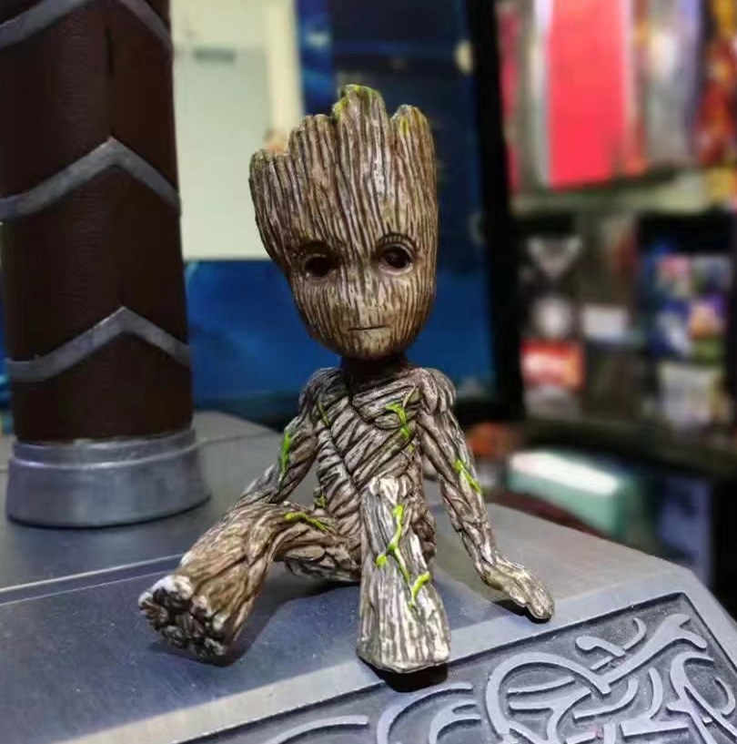 Figura do Anime Guardians Of The Galaxy 2 Homem Árvore Bebê Sentado Ver Collectible Modelo Brinquedos Brinqued 6 CM 170734
