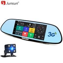Junsun 3 г 7 дюймов автомобиля GPS навигации Bluetooth Android автомобильный видеорегистратор Зеркало заднего вида FHD 1080 P Wi-Fi автомобиля gps навигатор Бесплатная карты 16 ГБ