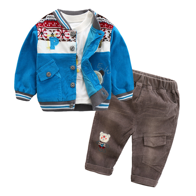 Baby Boy Clothes Sets 3PCS Newborn Infant Clothing Kids Clothes Toddler Boys Clothing Baby Kleding Outerwear 2018 Autumn Spring mother nest 3sets lot wholesale autumn toddle girl long sleeve baby clothing one piece boys baby pajamas infant clothes rompers