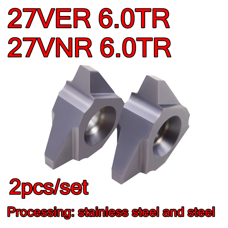 27VER 6 0TR 27VNR 6 0TR Vertical installation Carbide thread insert Processing stainless steel and steel